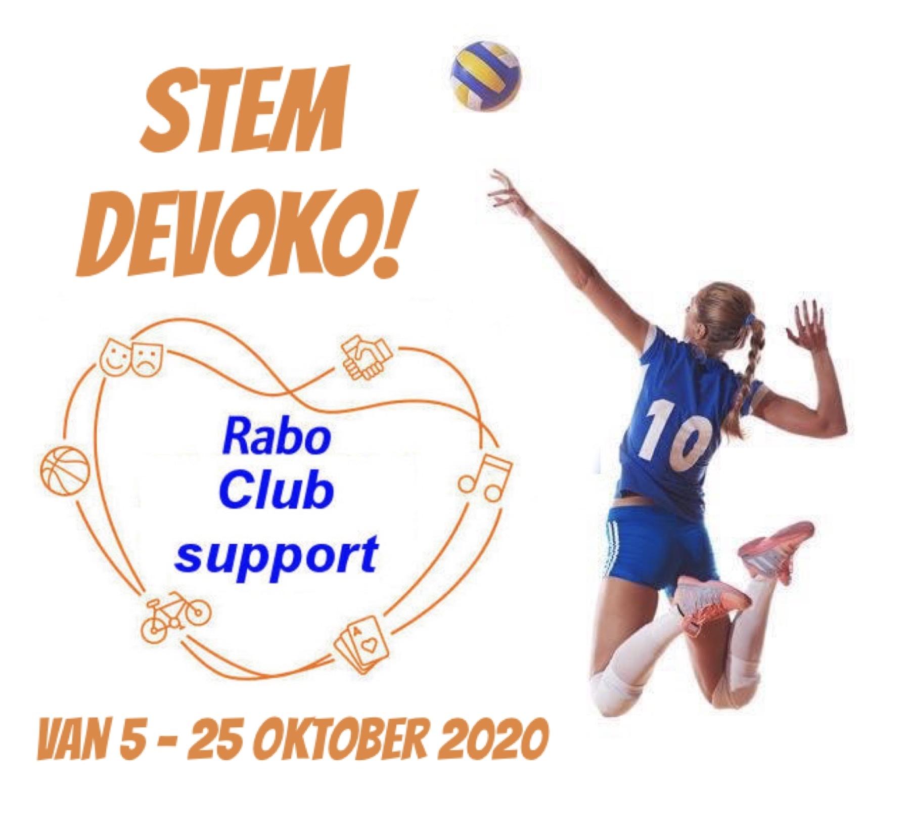 Stem DeVoKo op Rabo Club Support
