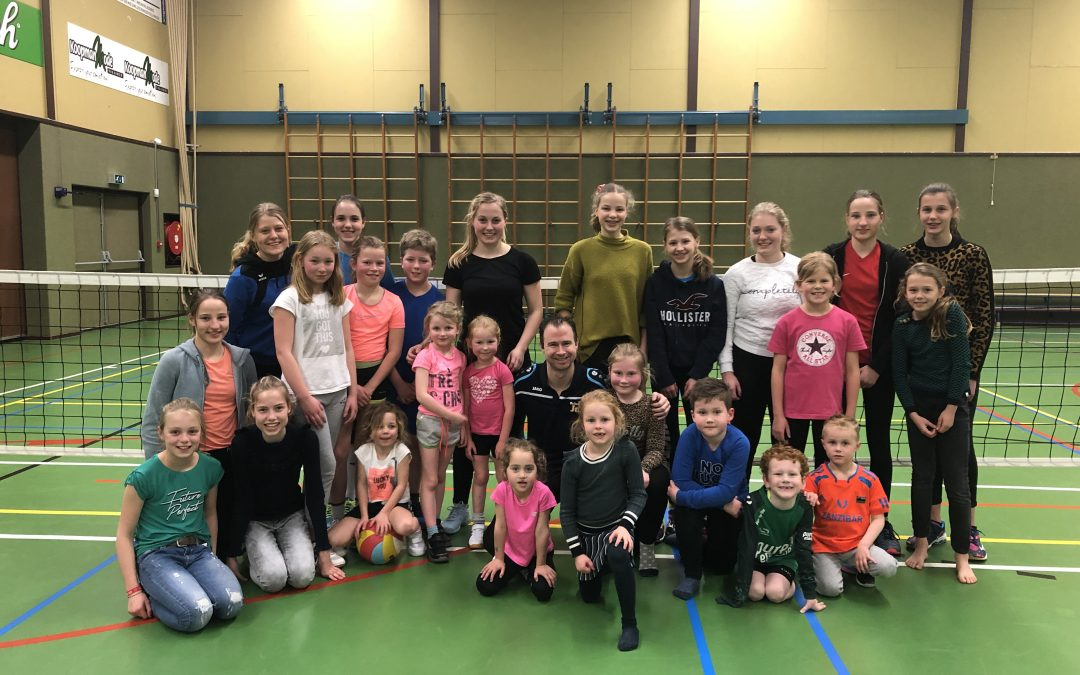 Volleybal clinic succesvol
