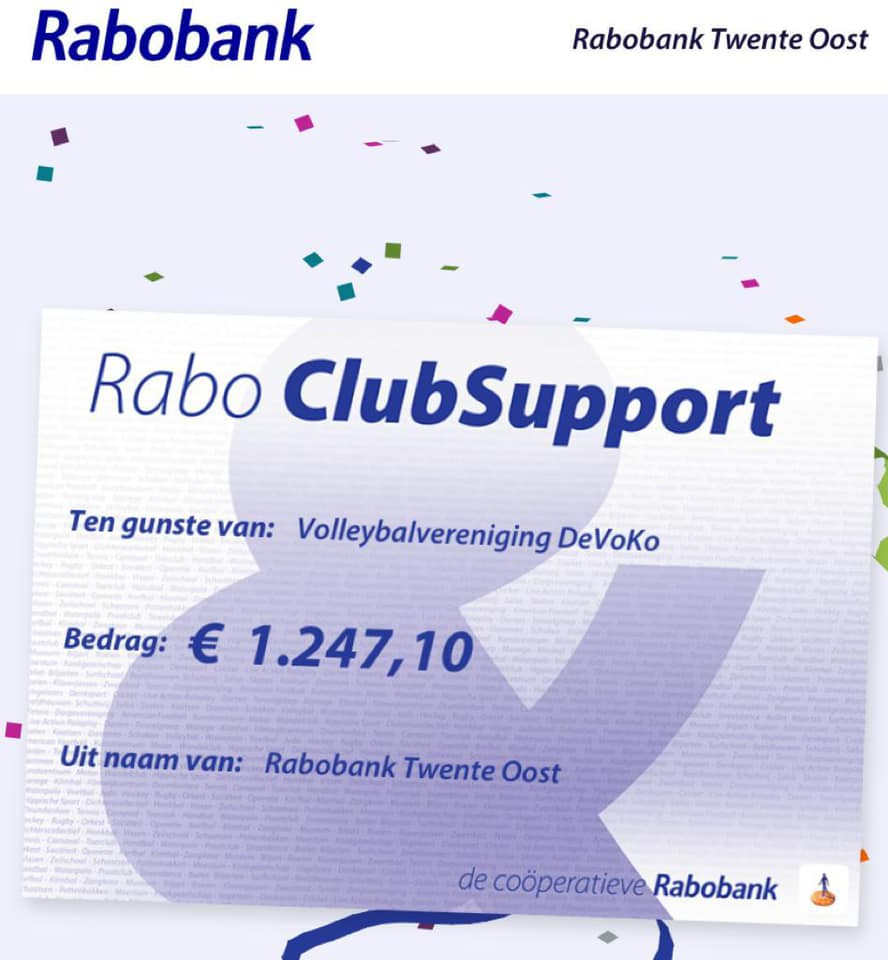 Uitreiking Rabo ClubSupport